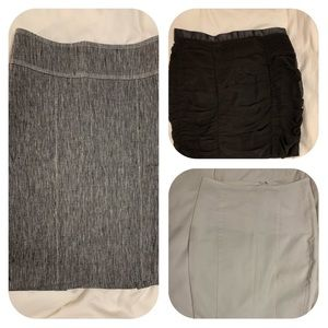 Lot of 3 skirts 2 Bebe skirts & 1 H & M skirts
